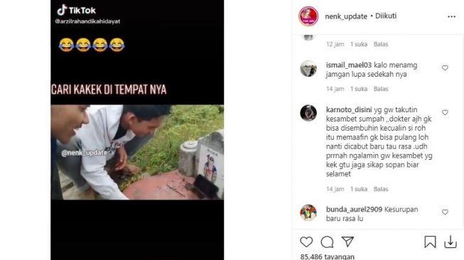 Demi Konten TikTok Dua Remaja Nekat Nekat Main Judi Online di Kuburan